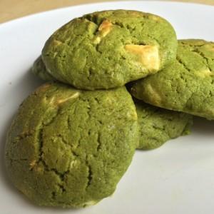 Matcha White choco cookie